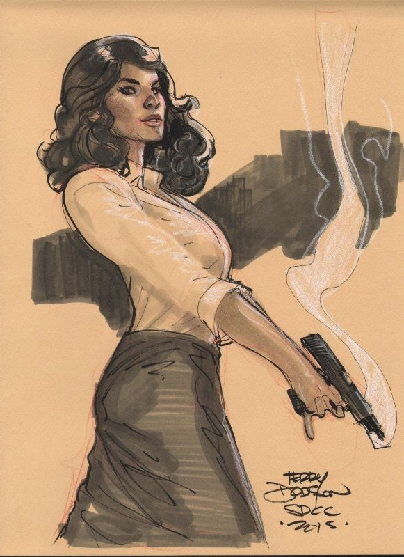 TERRY+DODSON+-+AGENT+PEGGY+CARTER+Convention+sketch
