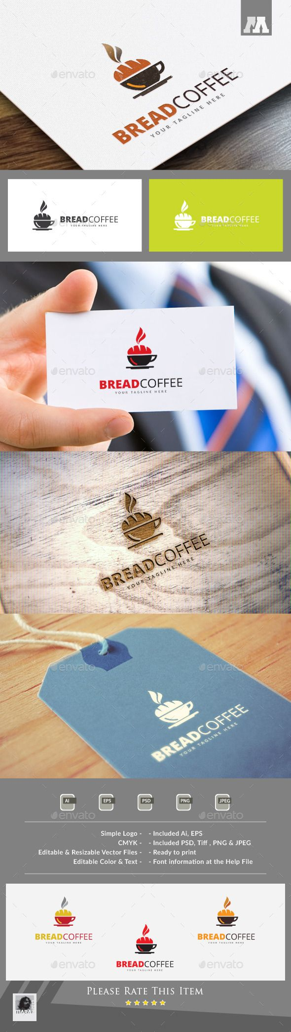 Bread Coffee Logo Template