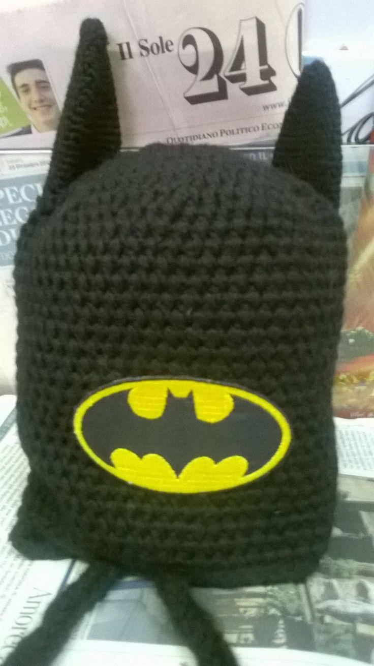 cappello batman crochet