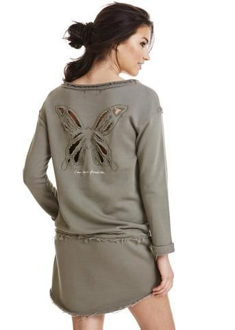 Odd Molly Sweatshirt army 117M-990 Mind Rinse Long Sweater - faded cargo – Acorns