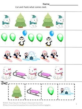 """FREE: When you think of Winter and The North Pole, penguins and polar bears come to mine. With this free sampler, Penguins and Polar Bears Sampler, you will receive three (3) worksheets from my Penguins and Polar Bears Cut and Paste Worksheet Set. The full version consists of 28 worksheets.   Enjoy this Sampler with your students. All I ask in return is to please click on the ★ above to """"Follow Me"""" to receive updates on new products and free downloads. Thank you, Rose."""