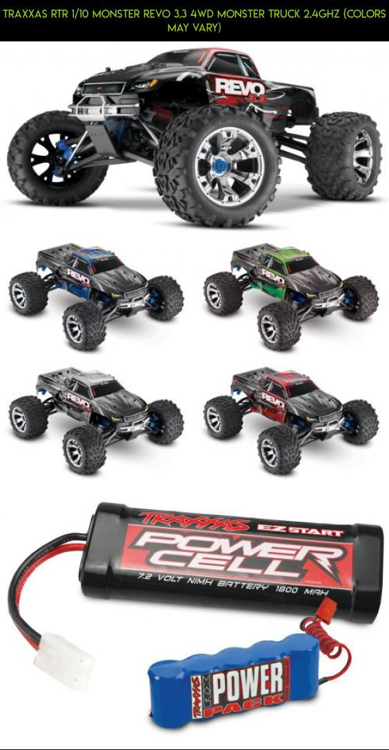 Traxxas RTR 1/10 Monster Revo 3.3 4WD Monster Truck 2.4GHz (Colors May Vary) #gadgets #traxxas #glow #camera #plug #technology #fpv #shopping #tech #plans #racing #parts #drone #products #kit