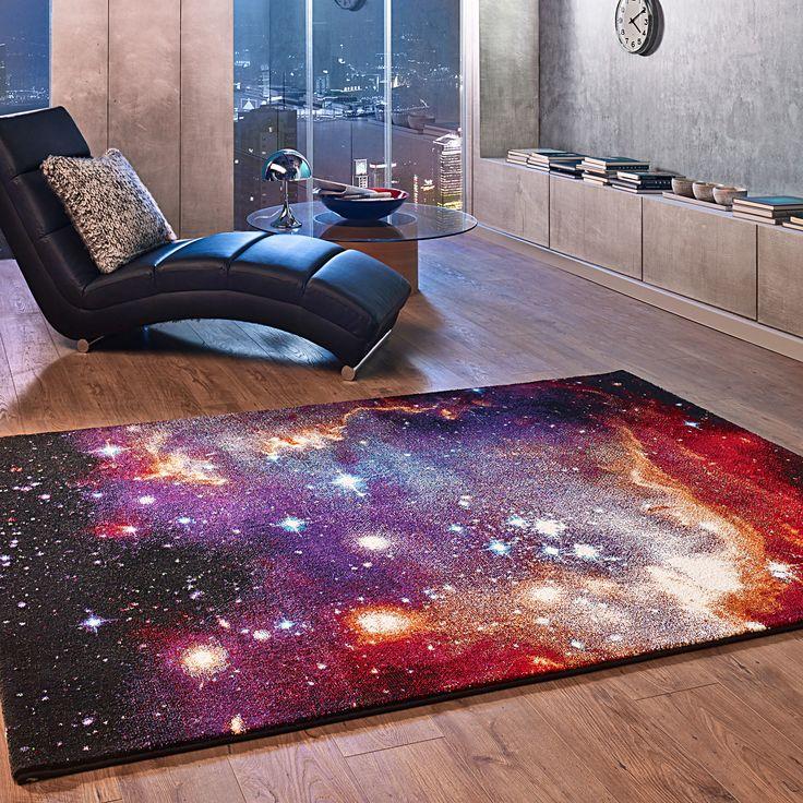 Skyview in Lila, 80 x 150 cm - Außergewöhnlicher Designer-Teppich aus 100 % Polypropylen Heatset Frisée ✔ Präsenz und künstlerisch abgestimmte Farben