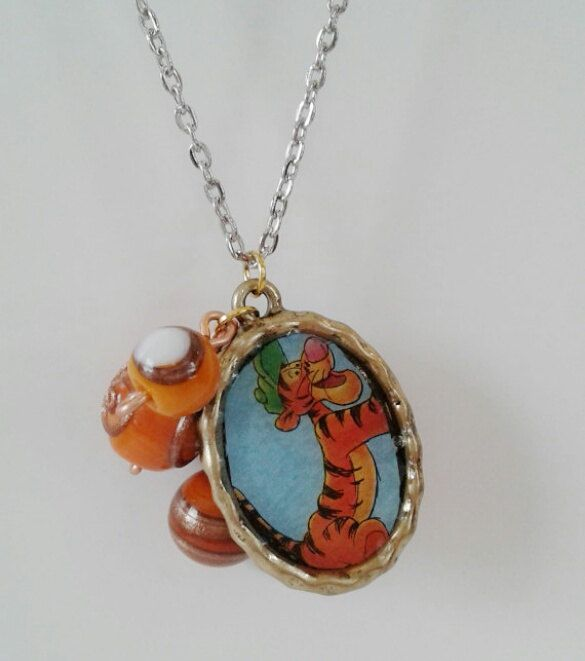 Tigger Necklace by RogueUnicornCrafts on Etsy