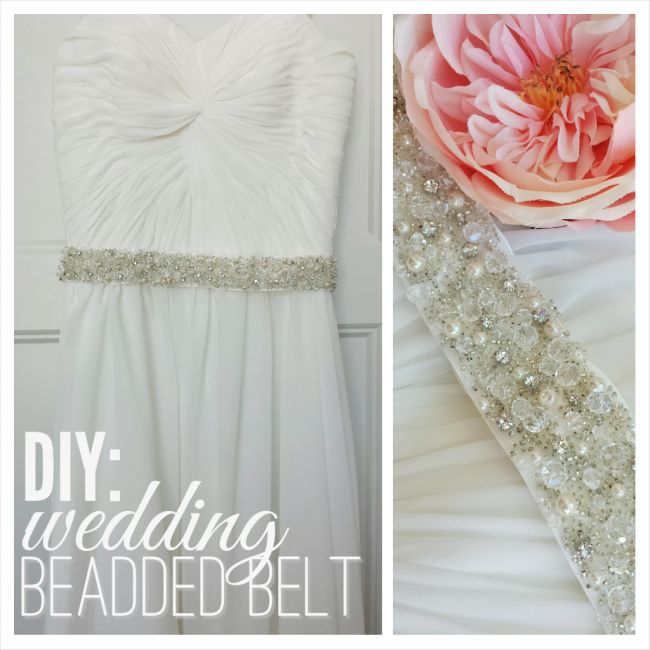 DIY: Beaded Belt Tutorial, Wedding Dress Belt