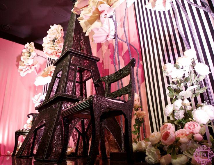 Оформление дня рождения в стиле Париж, Франция. Эйфелевая башня из кружева