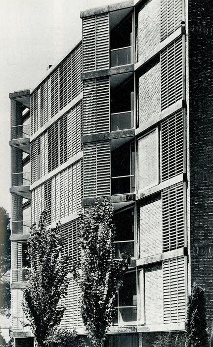 J. A. Coderch   Viviendas en Joan Sebastian Bach   1957   HIC Arquitectura