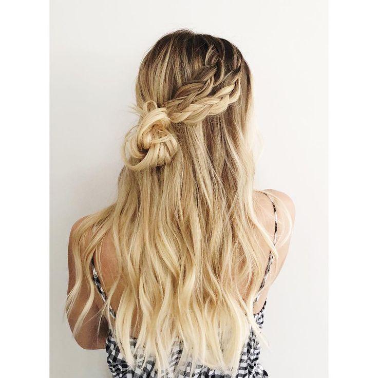 Braids 'n buns. • • • #ictblogger #wichitahair #wichitablogger #hairblogger #hai…, #Hairstyles2019,'#fashionhair #hairstylist #longhair #hai…
