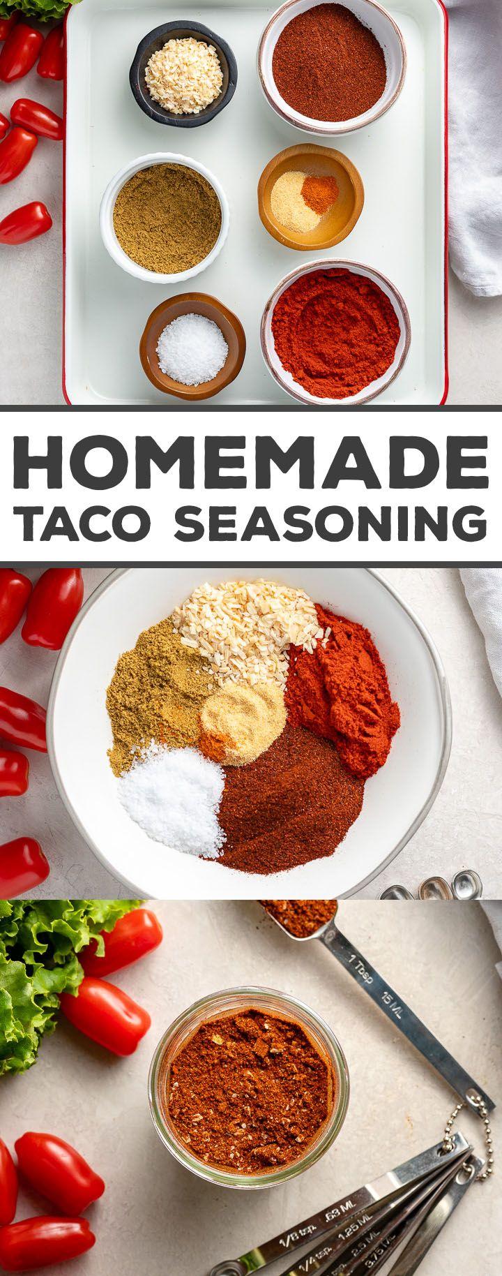 Homemade Taco Seasoning Recipe Homemade Tacos Homemade Taco Seasoning Taco Seasoning