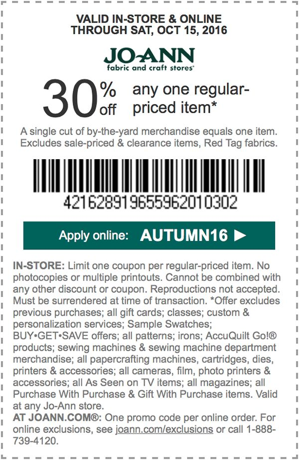 30 off any one regularpriced item. APPLY ONLINE