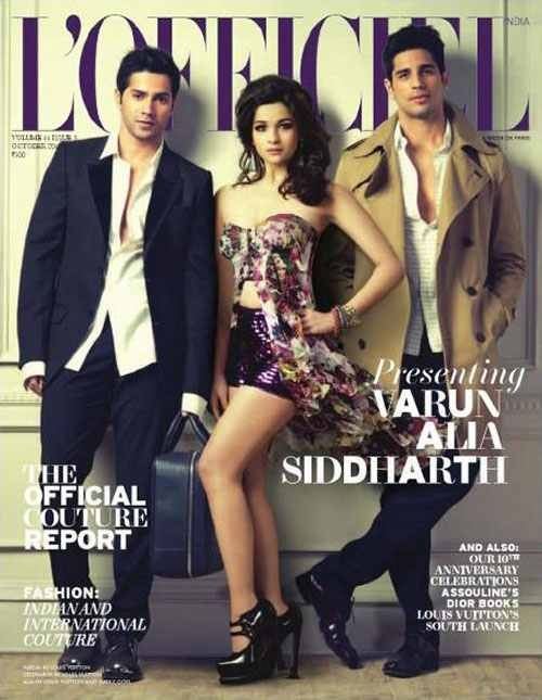 Another great cover shoot with the cast of Student Of The Year by Karan Johar :)