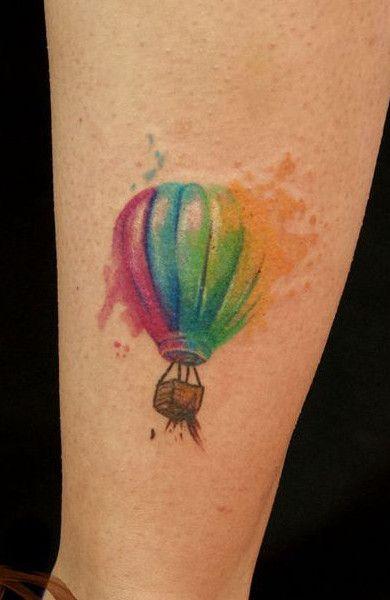 air balloon tattoo small watercolor 2016