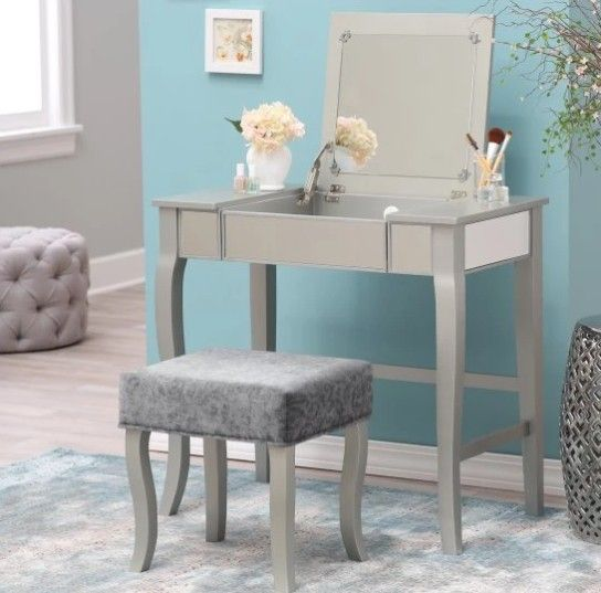 """""""Beautiful Linon Harper Silver Mirrored Vanity Set on Sale Now for Less Than $142 with FreeShipping! Image   Posted on November 15, 2017 by Bella Atto LLC"""" Sweet Deals are subject to change or expire  without notice. Grab them while you can!"""