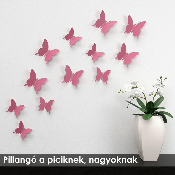 A szobába akasztható pillangók örömet okoznak minden szellőztetésénél és az életkor előrehaladtával újabb és újabb technikával lehet szellőben repkedő pillangókat készíteni.