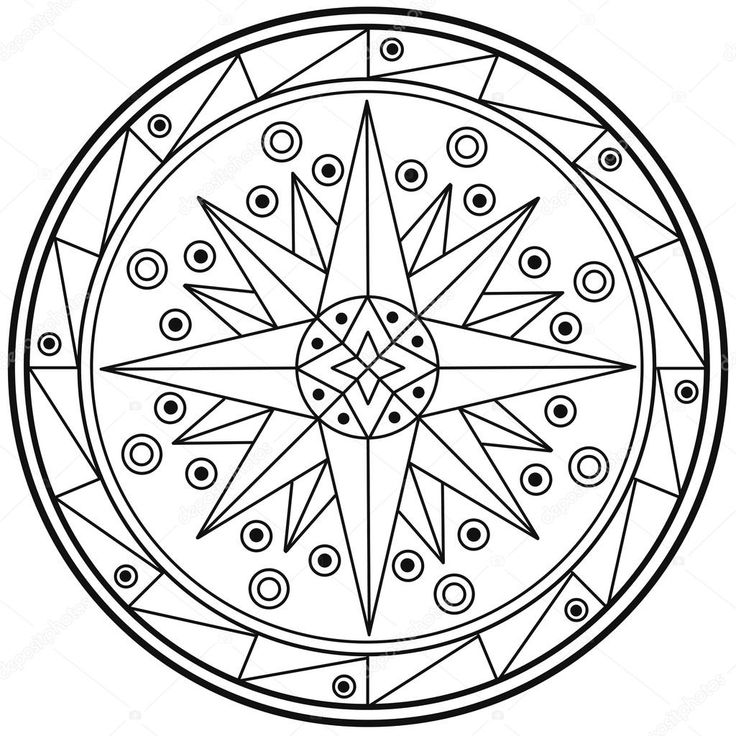 Resultado de imagem para mandalas geométricas para colorir
