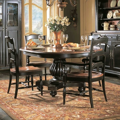 Indigo creek round pedestal dining table by hooker for 5 foot dining room table