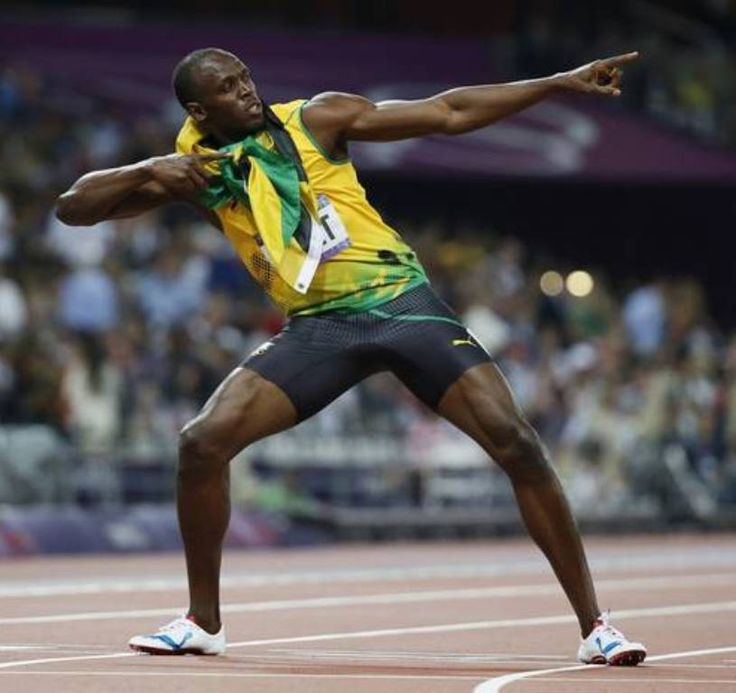 Usain Bolt OJ, CD ~ Born Usain St. Leo Bolt, 21 August 1986 (age 29) in Sherwood Content, Trelawny, Jamaica. Jamaican sprinter. Widely regarded as the fastest person ever, he is the first man to hold both the 100 metres and 200 metres world records since fully automatic time measurements became mandatory in 1977.
