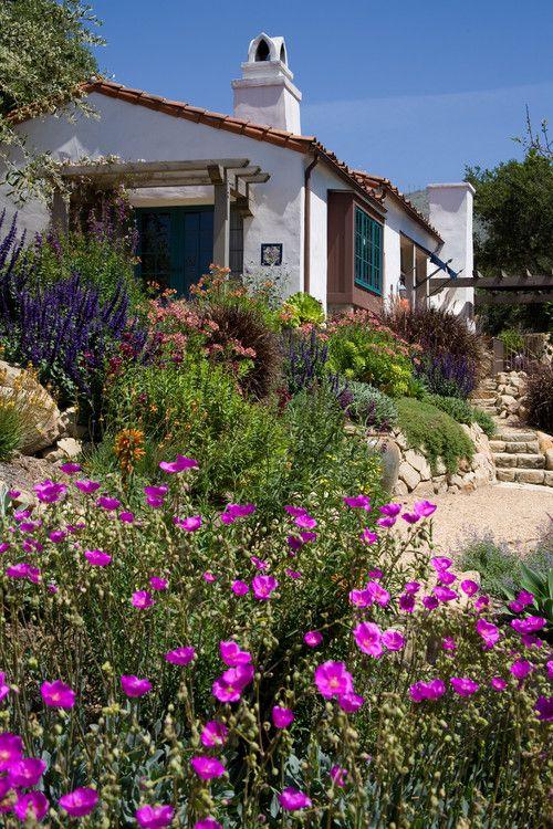 Mediterranean secret in the hills of Santa Barbara. Margie Grace - Grace Design Associates.