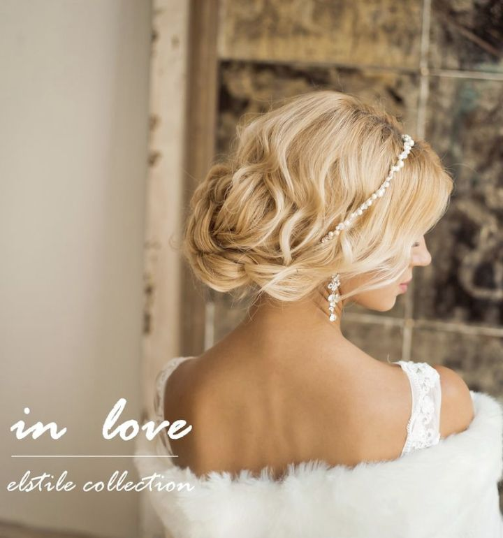 Head band like this with my hair down and front pieces pulled back to a half up twist - MODwedding