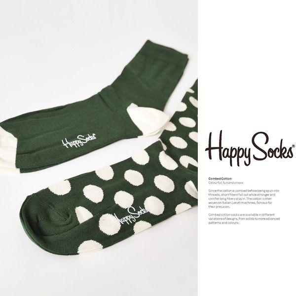 【楽天市場】【CANVAS VOL.2掲載商品】Happy Socks ハッピーソックス 2パック バイカラー&ボーダー/ドット ソックス・tp12(全7色)(unisex)【2014春夏】[fs04gm]:Crouka(クローカ)
