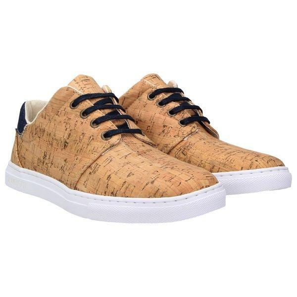 online retailer e3f55 bebd6 echt #402 Herren Korkschuhe vegane Sneaker jeansblau | Vegan ...