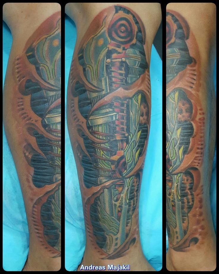 Sabah borneo tattoo... biomechanical tatttoo, if interested call +60168477177 Warisan Square kota kinabalu