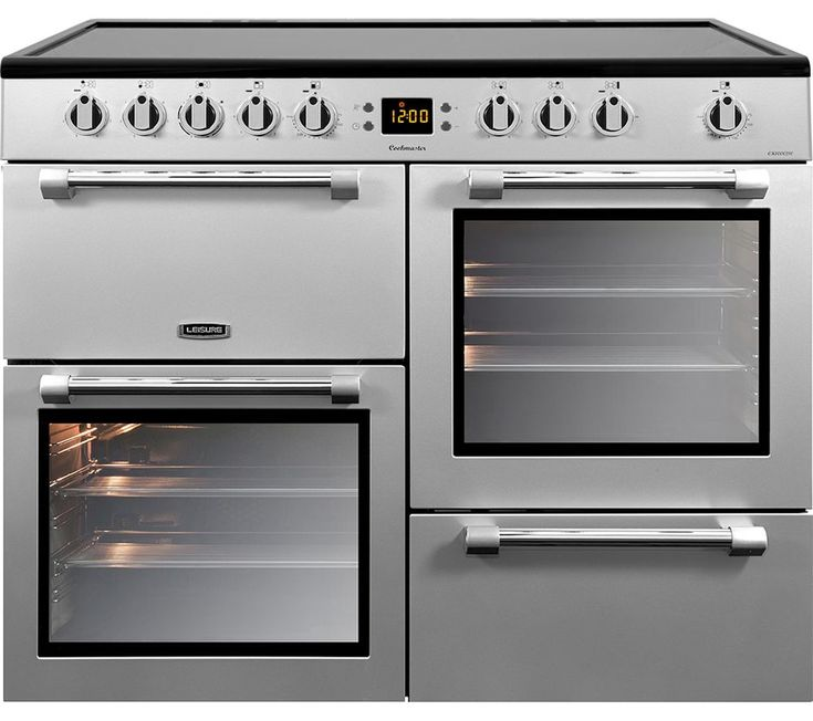 LEISURE Cookmaster CK100C210S Electric Ceramic Range Cooker - Stainless Steel & Chrome, Stainless Steel on sale in the UK along with best prices on many other flooring goods.