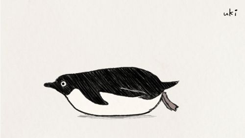 A penguin animation that I found among works drew the year before last… 一昨年のラクガキフォルダから発掘されたペンギンgif
