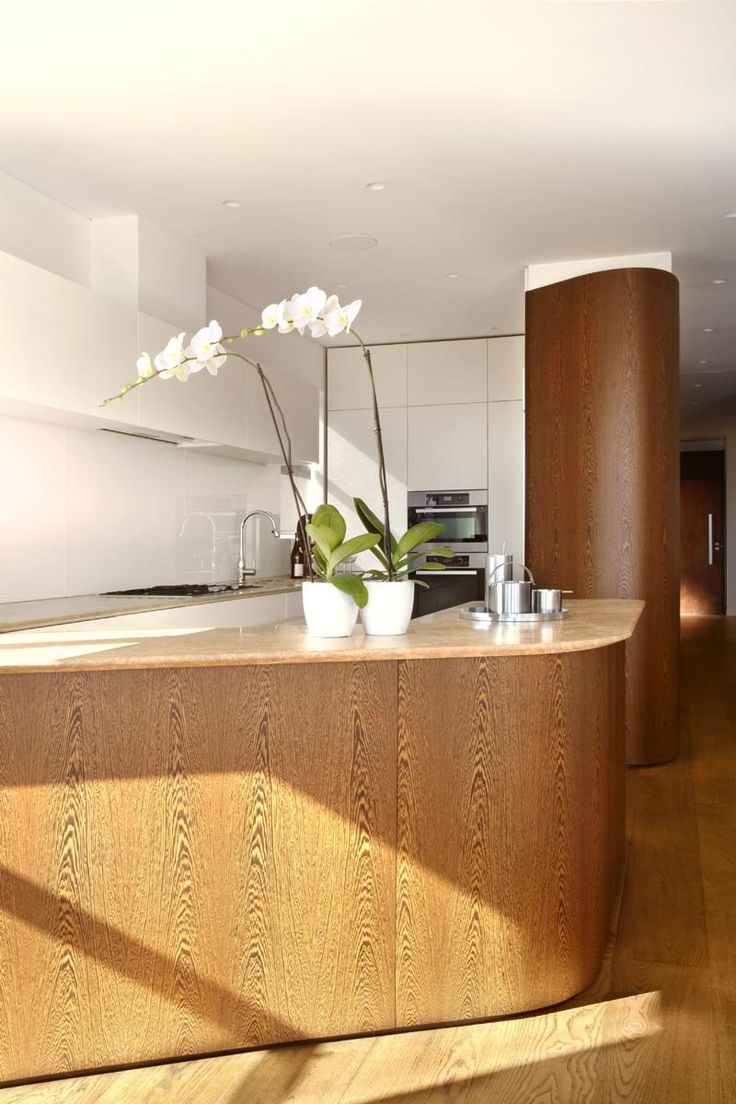 264 best kitchen images on pinterest architecture kitchen and apartment wooden kitchen island ideas for fresh penthouse apartment interior design with truly airy and