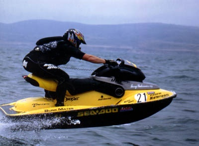 Jet Ski, Sea Doo Xp with a number 21. Can't get better than that.