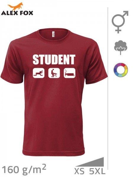 Tričko s potiskem - to nejdůležitější ze studentského života,, aneb studentský život ve třech bodech :)