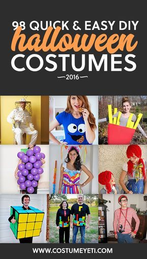 98 Quick and Easy DIY Halloween Costumes for 2016