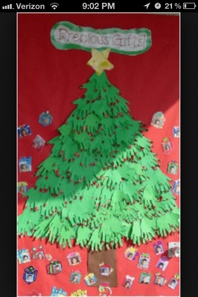 This is almost exactly what i want to do at Imas!! Handprint Christmas Tree