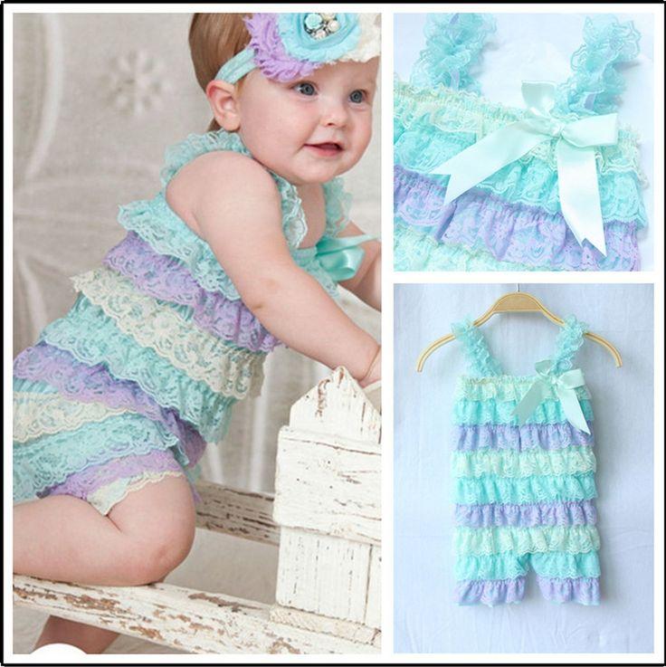 Lato w stylu 2015 koronki ruffle petti pajacyki newborn berbeć dziewczyny moda romper zestaw fabryka gorąca sprzedaż