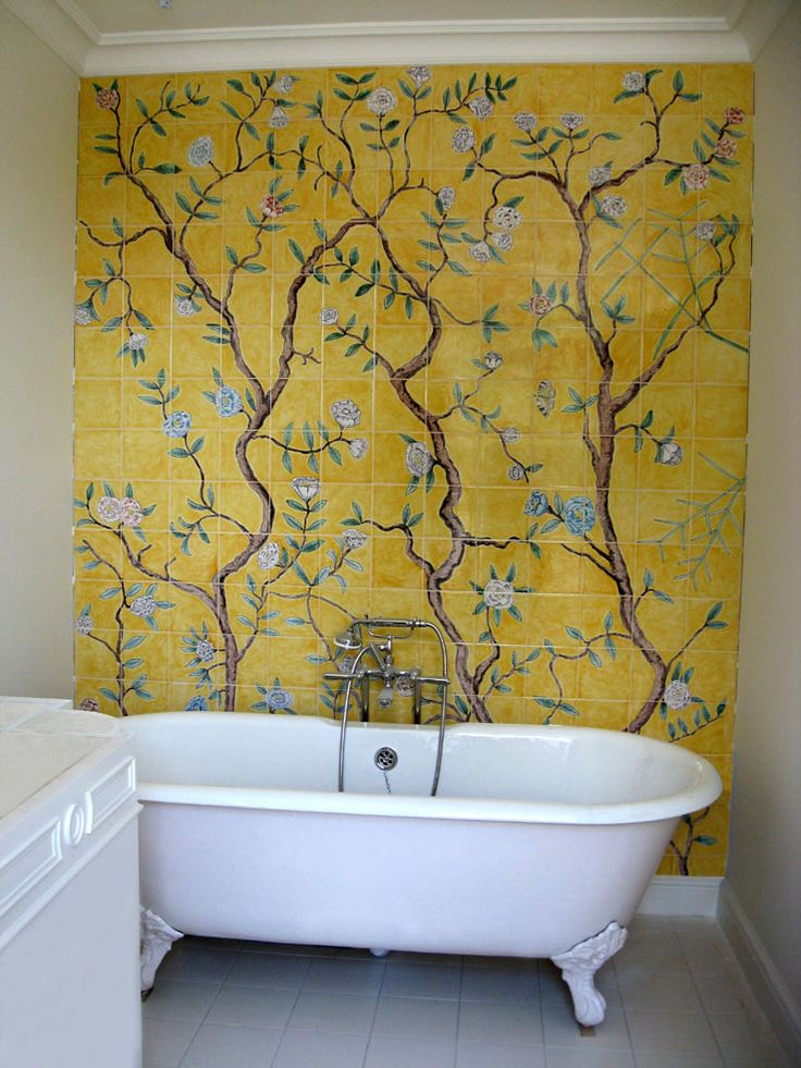 Chinoiserie wallpaper tiles by Reptile Tiles
