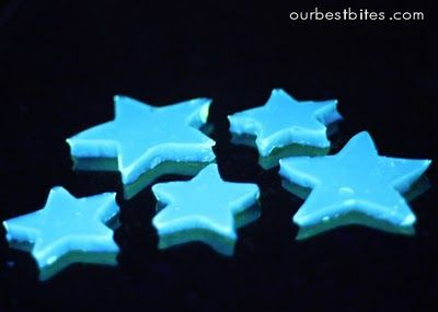 Kid Stuff..glow in the dark jello - add tonic water and black light and it glows! Then you can eat them!  Who knew?