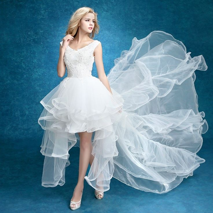 Shop long tailed bride deep v collar sleeveless simple slim wedding dresses free shipping online at DinoDirect store.