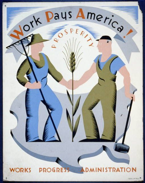 WPA poster from 30's or 40 's