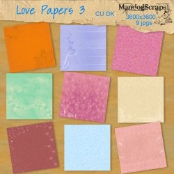 There are 9 background papers 12x12 in a romantic theme    Commercial use OK no credit required