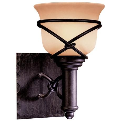 How High Should Wall Sconces Be Mounted : Minka Knotted Iron 10 1/4