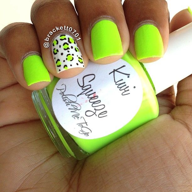 Best 25 lime green nails ideas on pinterest pretty nails neon green nails with green neon leopard accent nail prinsesfo Images