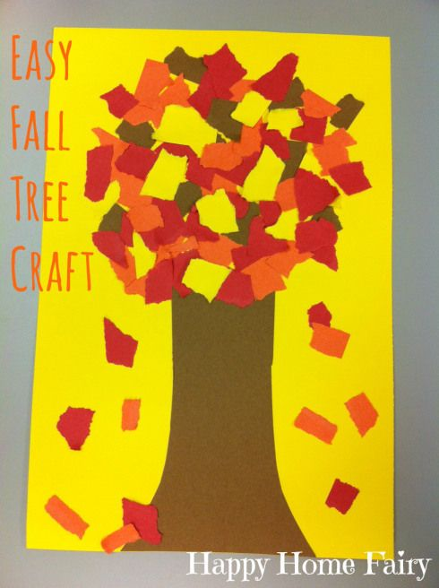 easy fall tree craft! construction paper, glue - BAM. Cuteness