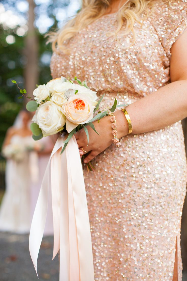 Pretty peach blooms: http://www.stylemepretty.com/2015/04/15/elegant-blush-white-linden-place-wedding/ | Photography: M. Studios - mstudiosri.com