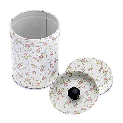 HuntGold charmant couche double joint chariot à thé boîte de bonbons conteneur ménager(fleur): C'est un conteneur de stockage de nourriture…