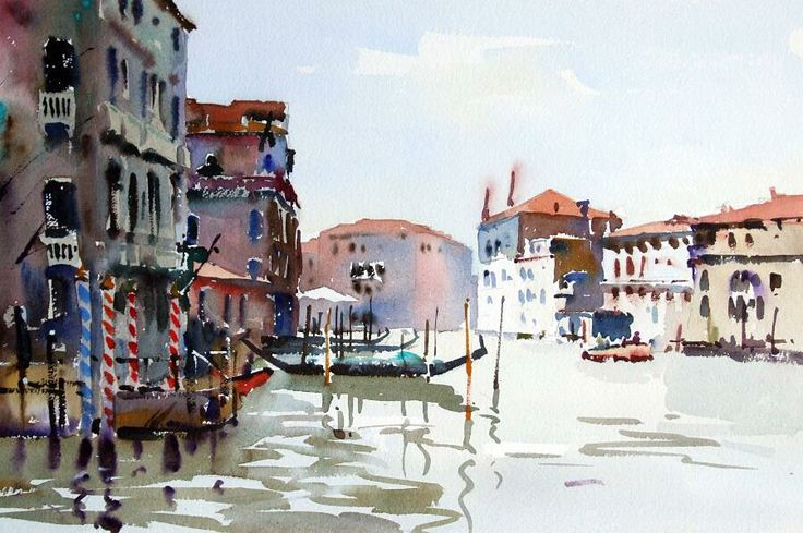 Grand Canal, Venice (watercolour), Jake Winkle