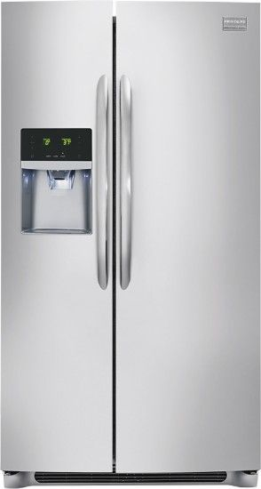 Frigidaire - Gallery 22.6 Cu. Ft. Counter-Depth Side-by-Side Refrigerator with…