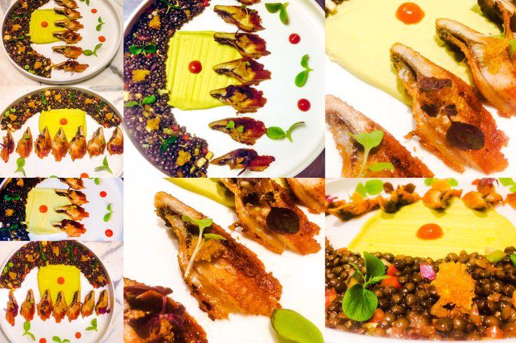 Χέλι με σάλτσα kabayiaki,φακές beluga,φάβα πράσινη και αυγά χελιδονόψαρου!