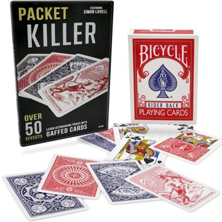 Magic Makers - Packet Killer 45 Tricks with Special Gaff Bicycle Deck