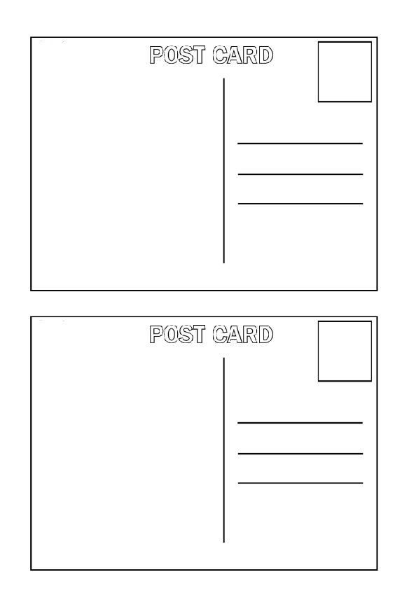 8 best Postcards images on Pinterest Activities, Postcards and - postcard format template