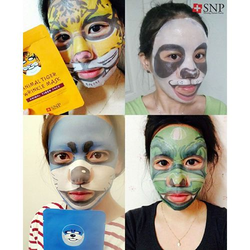 Animal Mask Sheet Tiger Panda Dragon Otter SNP 2/3/4/5/10 Set Free Shipping  #SNP
